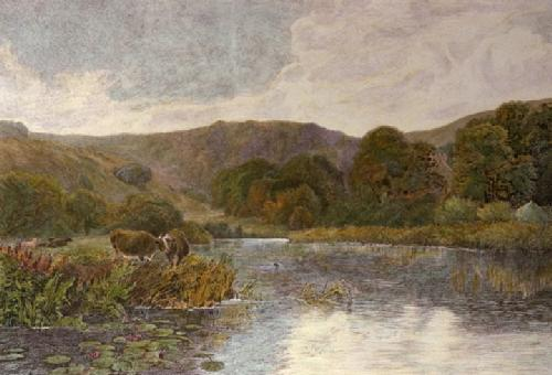 On the Arun (Restrike Etching) by George Vicat Cole