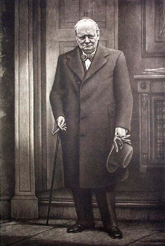 Churchill (Restrike Etching) by Anonymous