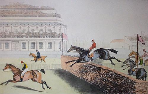 Liverpool Grand Steeplechase Pl. II (Restrike Etching) by Laporte
