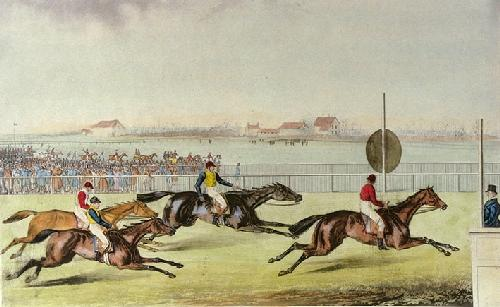 Liverpool Grand Steeplechase Pl. IV (Restrike Etching) by Laporte