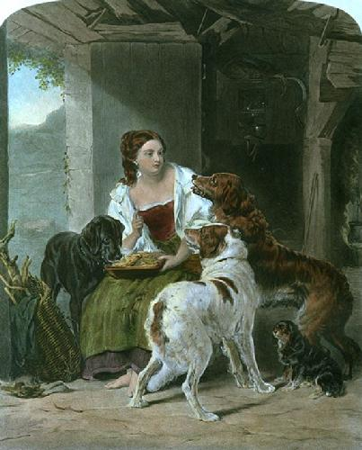 Keeper's Daughter, The (Restrike Etching) by William Powell Frith