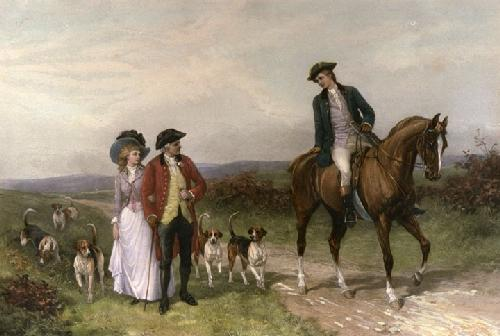 Love's Barrier (Restrike Etching) by Heywood Hardy