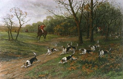 Breaking Cover (Restrike Etching) by Heywood Hardy