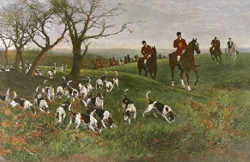 Lost Scent (Restrike Etching) by Heywood Hardy
