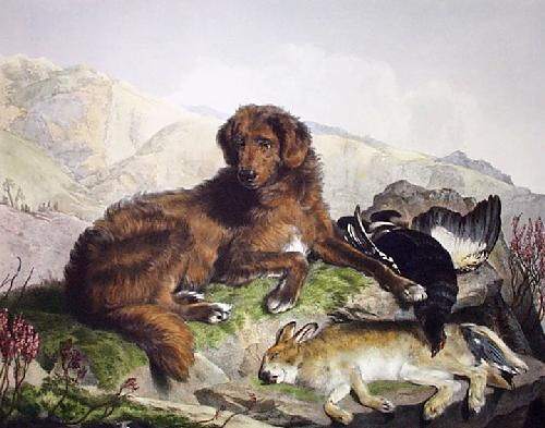 Retriever & Game (Restrike Etching) by Sir Edwin Henry Landseer