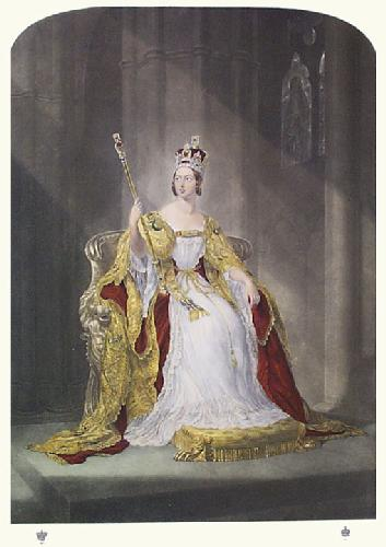 Queen Victoria in Coronation Robes (Restrike Etching) by George Hayter