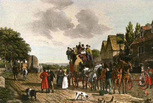 Last Journey on the Road (Restrike Etching) by Anonymous