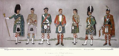 51st Highland Volunteers, The (Restrike Etching) by Capt DG Mowatt