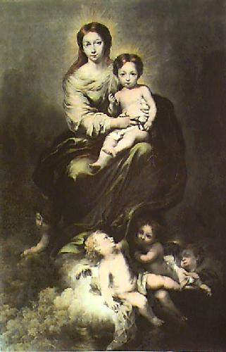 Madonna and Child (Restrike Etching) by Bartolomé Esteban Murillo