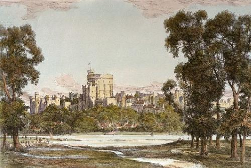 Windsor Castle (Restrike Etching) by John Fulwood