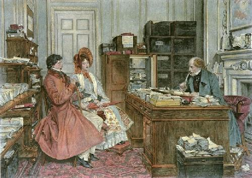 The New Will (Restrike Etching) by Walter Dendy Sadler