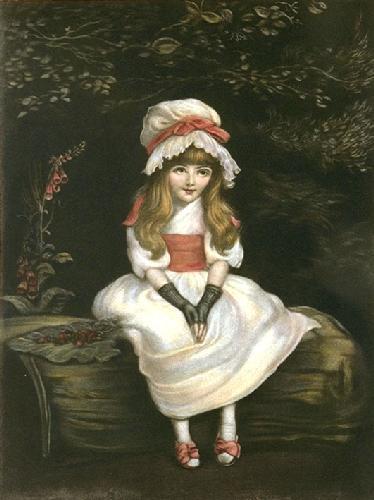 Cherry Ripe (Restrike Etching) by Sir John Everett Millais