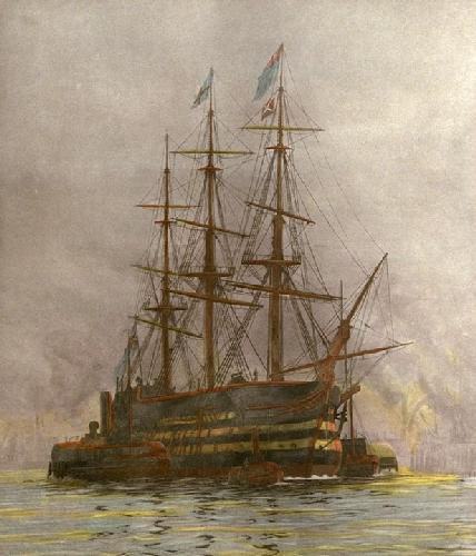Last Journey of Victory (Restrike Etching) by William Lionel Wyllie