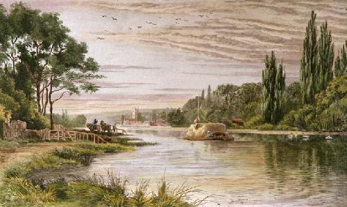 Henley on Thames (Restrike Etching) by Alex Anstead