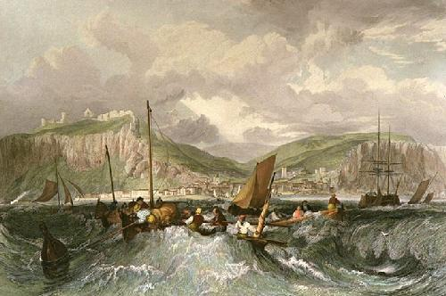 Hastings (Restrike Etching) by Joseph Mallord William Turner