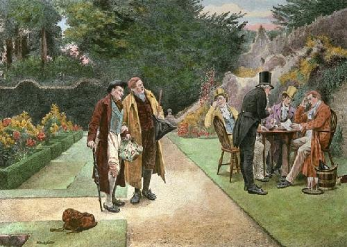 The Uninvited Guest (Restrike Etching) by Walter Dendy Sadler