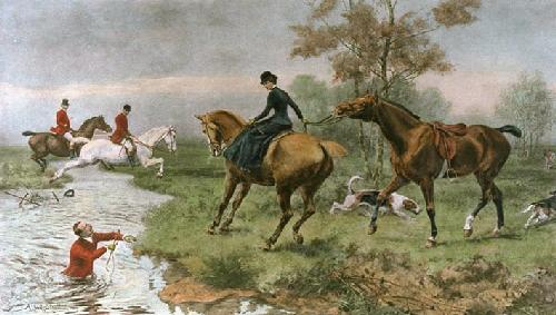 Thanks Awfully (Restrike Etching) by Alfred William Strutt