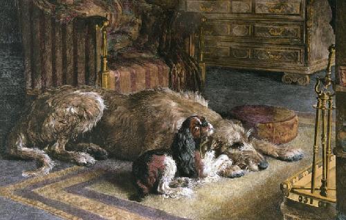 Fire Worshippers (Restrike Etching) by Herbert Thomas Dicksee