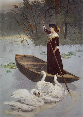 Lady of the Lake (Restrike Etching) by Samuel Edmund Waller