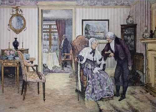 For Fifty Years (Restrike Etching) by Walter Dendy Sadler
