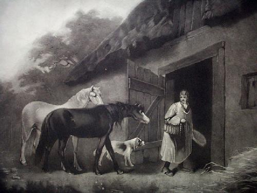 The Horsefeeder (Restrike Etching) by George Morland