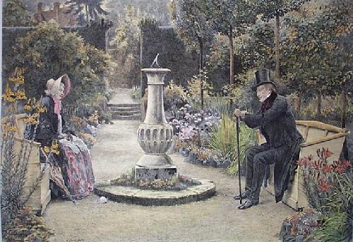 Sweethearts (Restrike Etching) by Walter Dendy Sadler