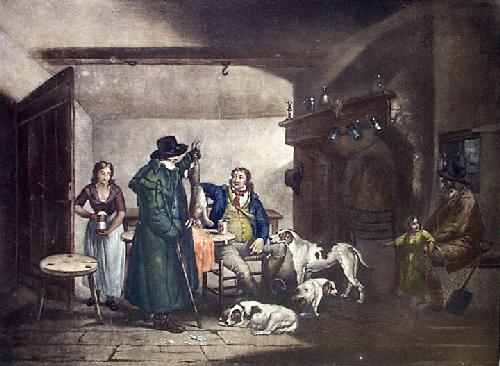 Inside a Country Alehouse (Restrike Etching) by Ward