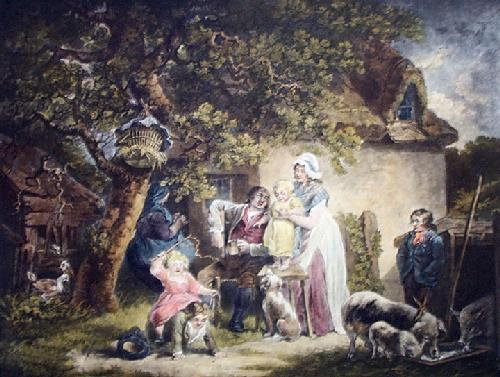 Cottagers (Restrike Etching) by George Morland