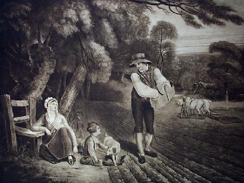 The Sower (Restrike Etching) by George Morland
