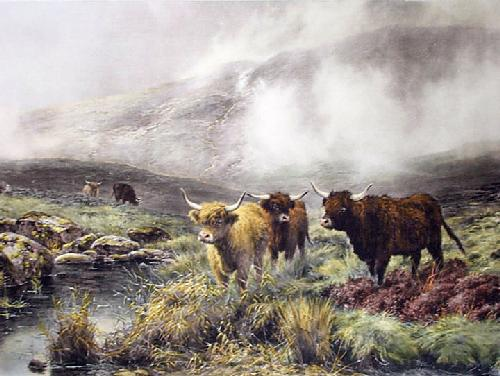 On Rannoch Moor (Restrike Etching) by Walter Hunt