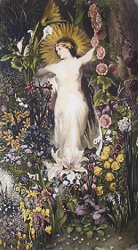 Flora (Sunburst) (Restrike Etching) by Valentine Walter Bromley