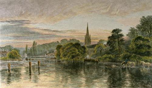 Great Marlow (Restrike Etching) by George Vicat Cole