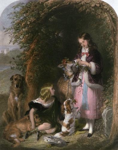 Sutherland Children (Restrike Etching) by Sir Edwin Henry Landseer