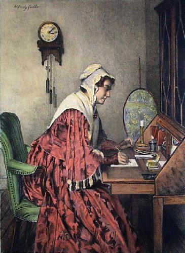 The Answer (Restrike Etching) by Walter Dendy Sadler