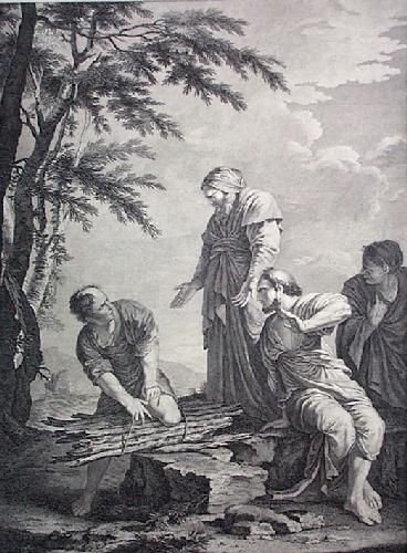 Democritus & Protagorus (Restrike Etching) by Sal Rosa