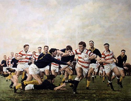 Nearly There! (Restrike Etching) by Terence Gilbert