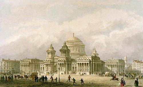 Design For The Royal Exchange (Restrike Etching) by Anonymous