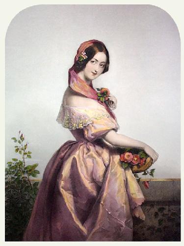 Fairest Flower (Restrike Etching) by Francois Rochard