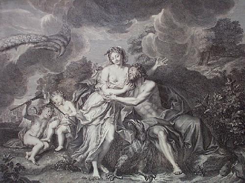 Jupiter & Juno (Restrike Etching) by A. Coypel