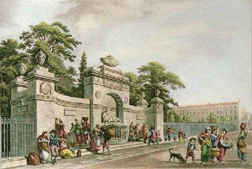 Rutland Fountain (Restrike Etching) by Berrolet