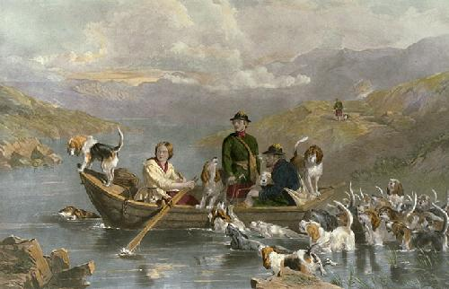Crossing the Tay (Restrike Etching) by Frederick Tayler