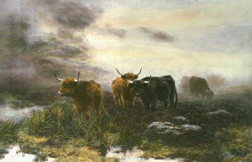 Moorland Mist (Restrike Etching) by Peter Graham
