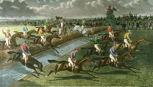 Water Jump (Restrike Etching) by Charles Hunt & Son