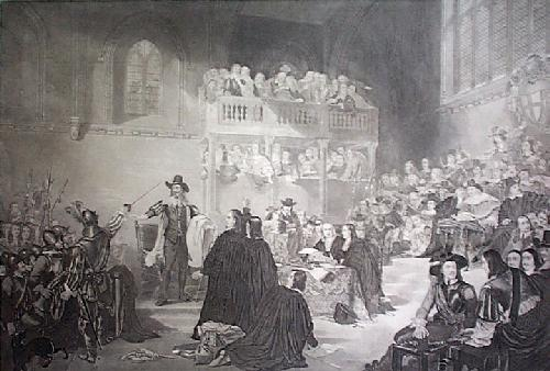 Trial of Charles I (Restrike Etching) by William Fisk