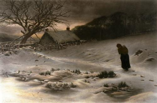 Homeward (Restrike Etching) by Joseph Farquharson