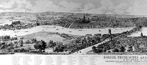 Westminster (Panoramic View) (Restrike Etching) by Antony Van De Wyngrer