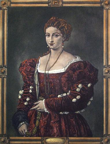 La Bella (Restrike Etching) by Titian