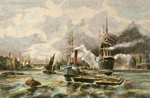 Dropping Down With The Tide (Restrike Etching) by Anonymous