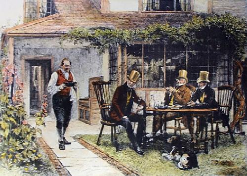 Old and Crusted (Restrike Etching) by Walter Dendy Sadler