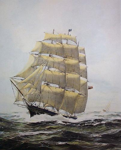 Cutty Sark (Restrike Etching) by William Bishop